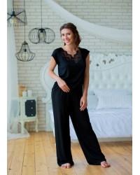 Пижама женская черная 0212 Effetto